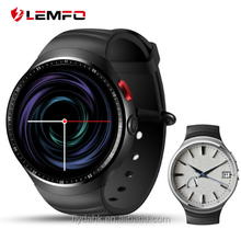 "LEMFO LES1 smart Watch 1GB + 16GB Big Memory 1.39"" OLED android 5.1 OS GPS WIFI Arc Round Screen smartwatch with 2.0 MP camera"