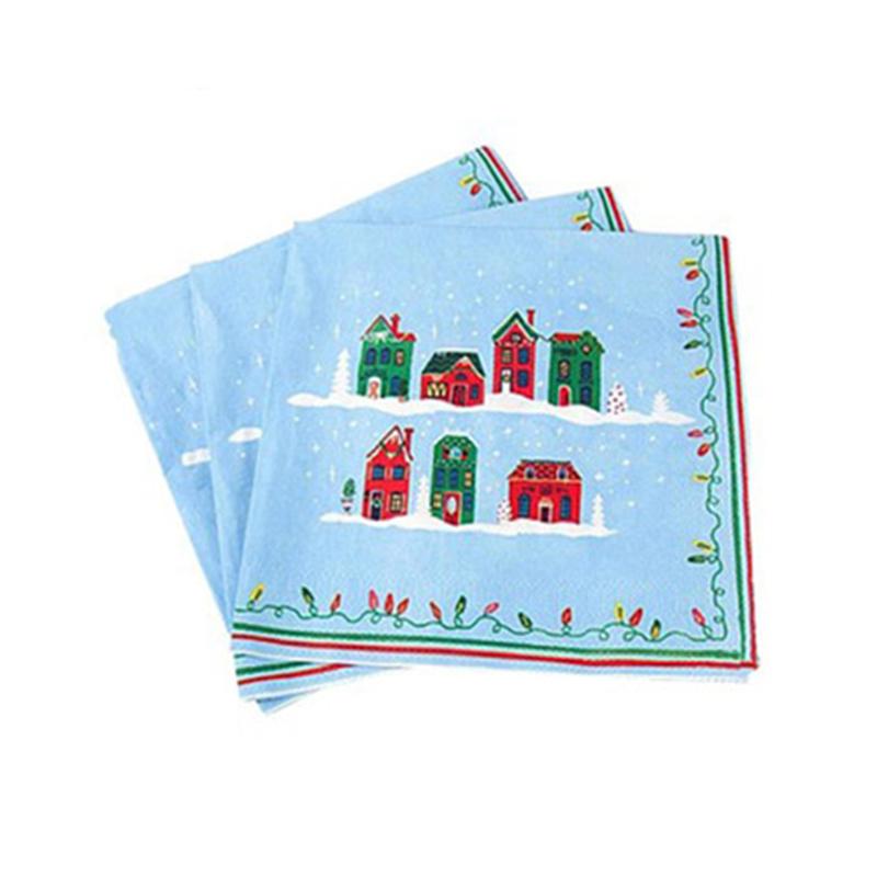 200 2PLY Blanco 33CM Cóctel Servilletas Estampadas Suave tejido de papel
