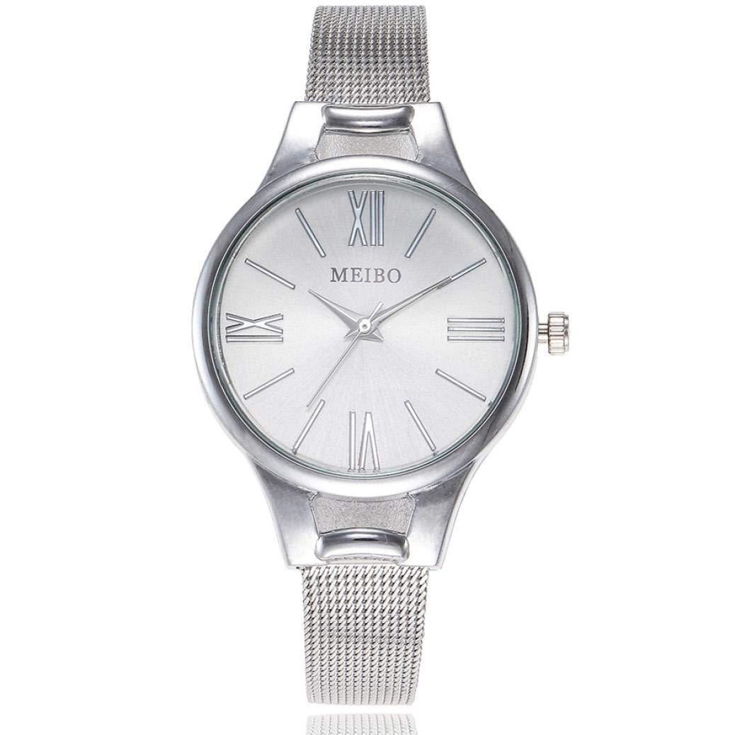 ManxiVoo Women's Watches, Stainless Steel Band Analog Quartz Wrist Watch Business Casual Bracelet Watches