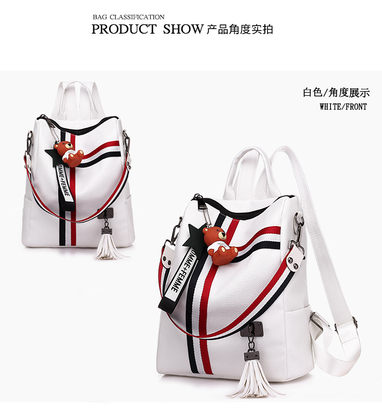 DLB017 korean ladies high quality travel elegant waterproof pu leather fashion woman backpack