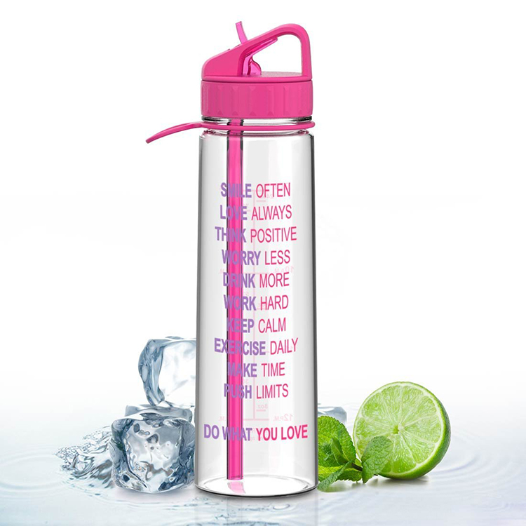 Amazon hot selling plastic food grade drink <strong>bottle</strong> with time line