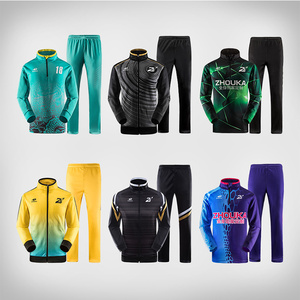 Wholesale bulk latest design your own fitted soccer tracksuit custom mens plain sports tracksuit