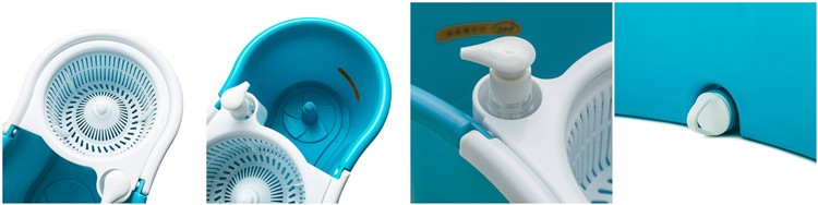Floor cleaning hand press magic mop assemble microfiber 360 spin magic mop