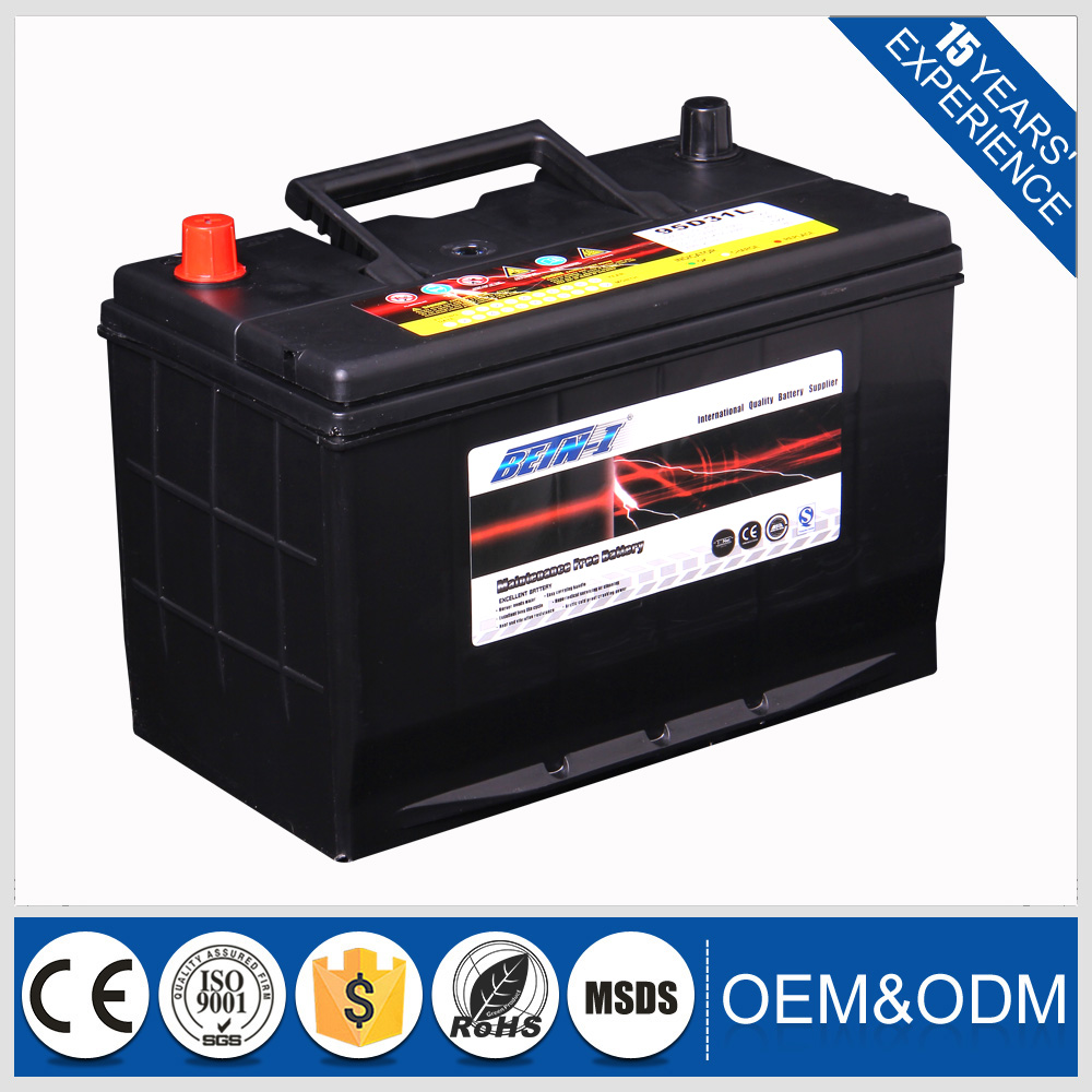 High performance 12V 80AH Car Battery for BETN-I 95D31