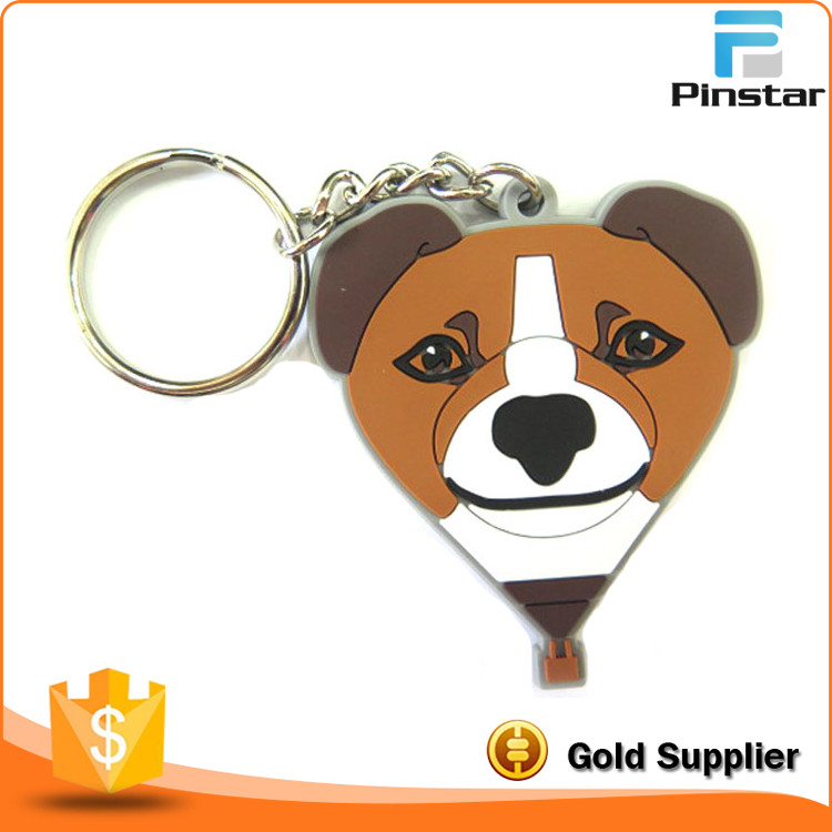 Hot Selling Custom Key Shaped Key Ring Soft PVC Rubber Keychain