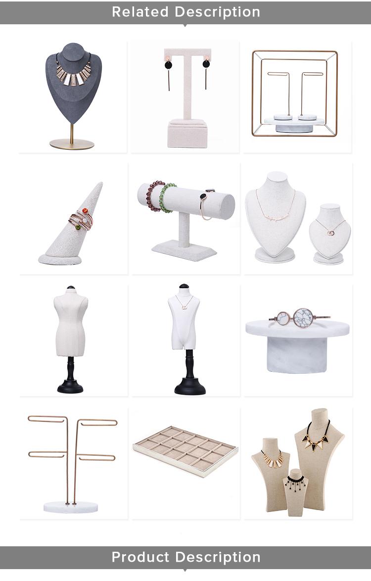Negozio di Gioielli di lusso di Commercio Contatore Display Rack Mostra Della Collana Set Disegno Del Busto Banco di Mostra Dei Monili Busto