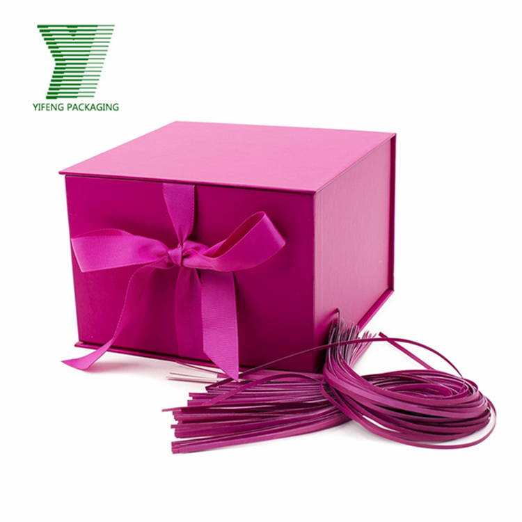 Custom Foldable Matt Pink Large Solid Color Cardboard Gift Box