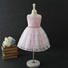 Newest lovely cherry pattern lace flower bayby girl summer casual dress