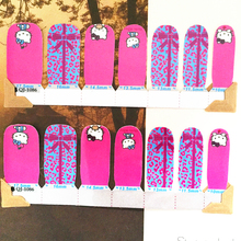 Sky blue Pink hellow cat child Nail Arts Nail Sticker Waterproof Nail Decal Sticker Gel Polish
