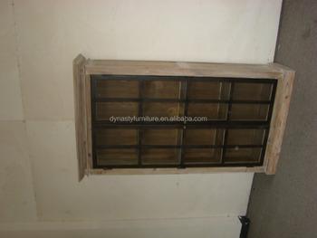 Hohe Qualität Metallrahmen Glastüren Holz Küchenschrank - Buy ...