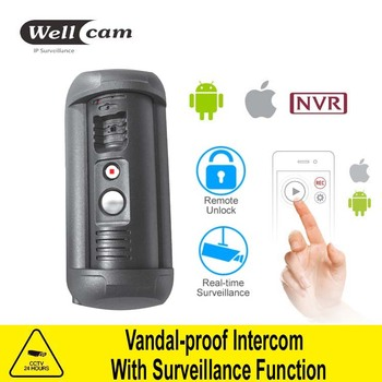 vandal-proof ip/sip cctv video intercom camera systems