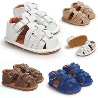 2017 Tooline high quality spring summer baby sandals rubber soft sole baby sandals crib shoes
