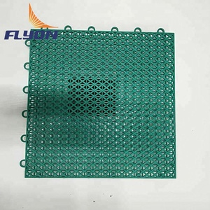 High strength pp plastic waterproof interlock tiles portable tennis court sports flooring and playground