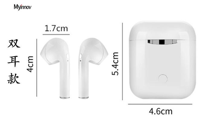 TWS Wireless Blue tooth 5.0 Earbuds with 3D Clear Sound, in Ear Sports Wireless Earphones with Built-in Mic i9,i9s