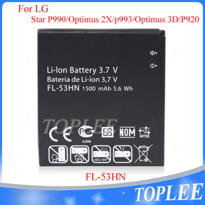 1500mAh FL-53HN battery FL 53HN battery For LG P990 P925 P920 P993 P999 M735 Optimus 3D Optiums 2X Thrill 4G G2X Battery