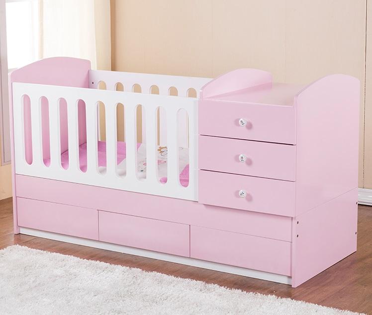 Multifunction Baby Crib Changing Table