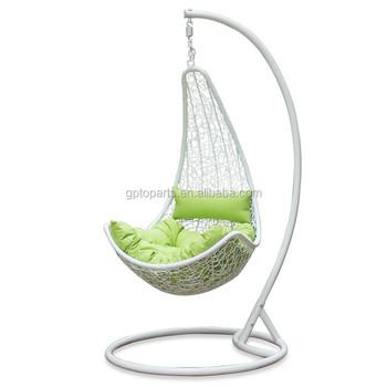 Pe Couchage En Rotin Salon Balançoire Chaise Utilisé Pour Jardin/jardin  Avec Coussin Vert - Buy Chaise Longue De Couchage,Chaise De Couchage  Moderne ...