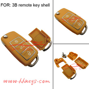 3buttons of flip car key shell yellow remote shell VW B5 Style Waterproof Remote Duplicator Shell
