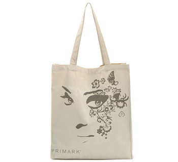 Custom Digital Printed Logo Plain White Shopping Canvas Cotton Tote Bag