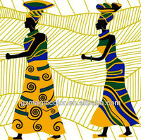 abstract paintings of african women wallpaper murals