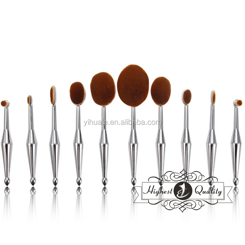 2017 the latest 10pieces Oval Makeup brush set
