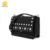 Women's Shoulder Crossbody Bag Rivet Messenger Bags Square Bag PU Leather Handbags