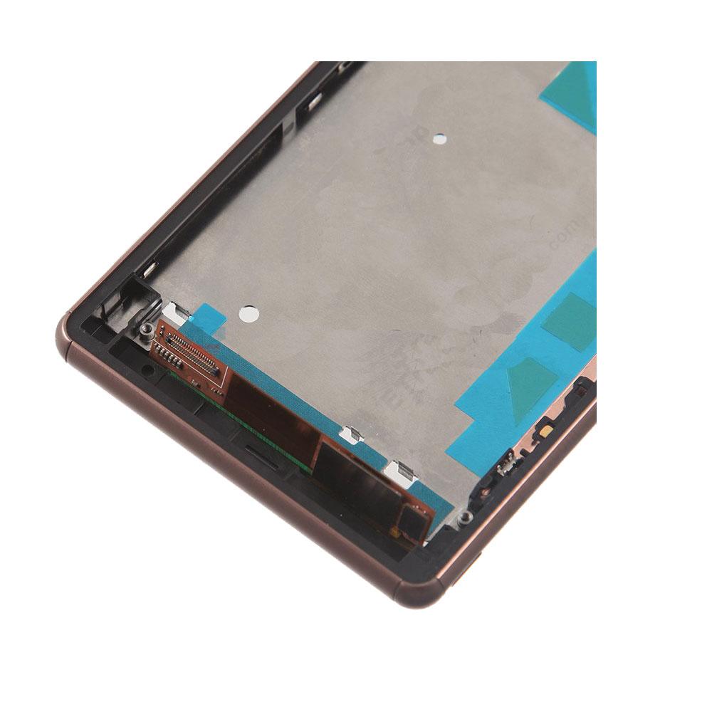 Золотой для Sony Xperia Z3 две сим-металлический ближний корпус рамка шатона + кнопки + инструменты в высокое качество бесплатная доставка