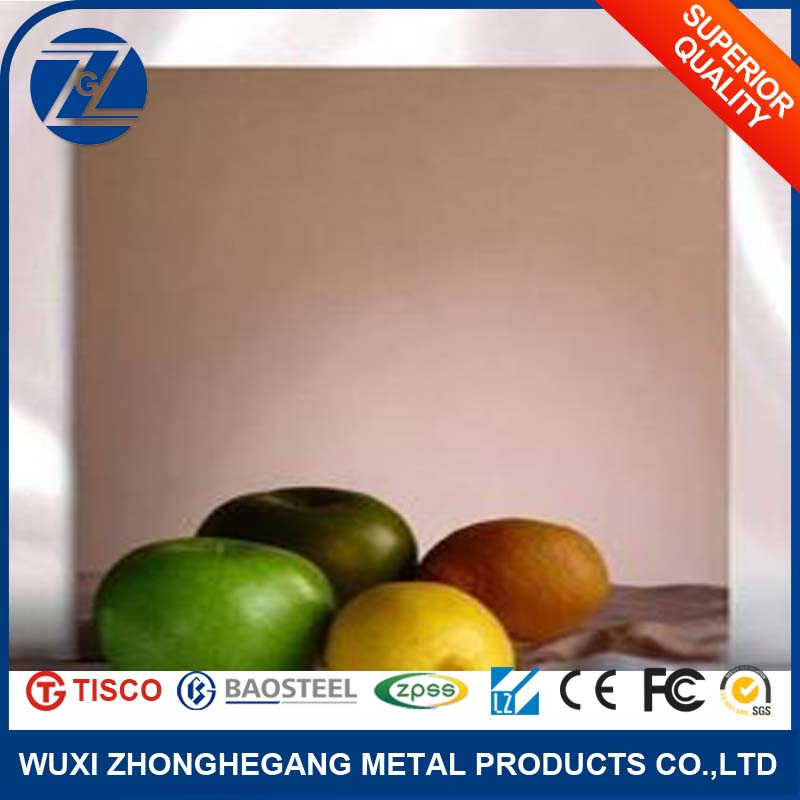 mirror polished 201 202 310 410 1mm 1.5mm thick stainless steel sheet