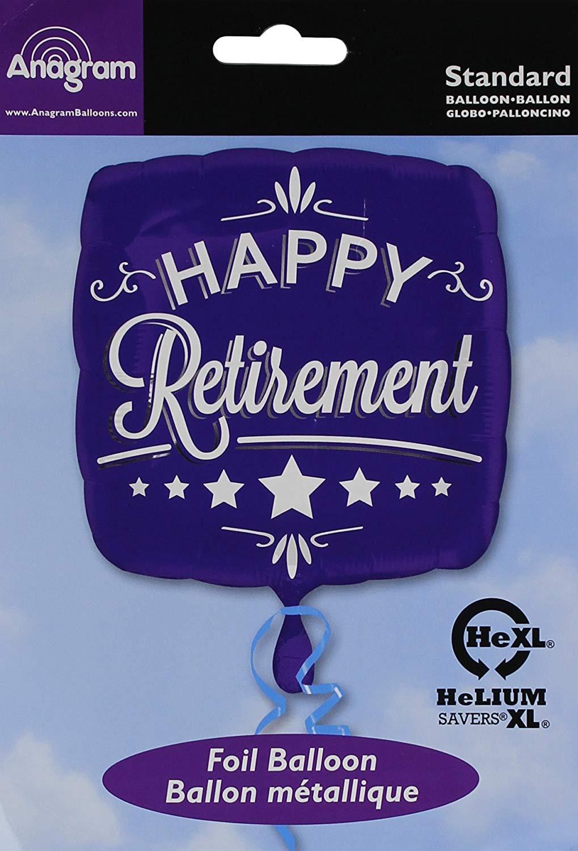 77d21ac39df Get Quotations · Anagram Foil Balloon 2873801 Happy Retirement Blue Square