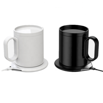 2019 smart custom logo coffee/tea mugs with self heating thermostatic and wireless mobile charger function