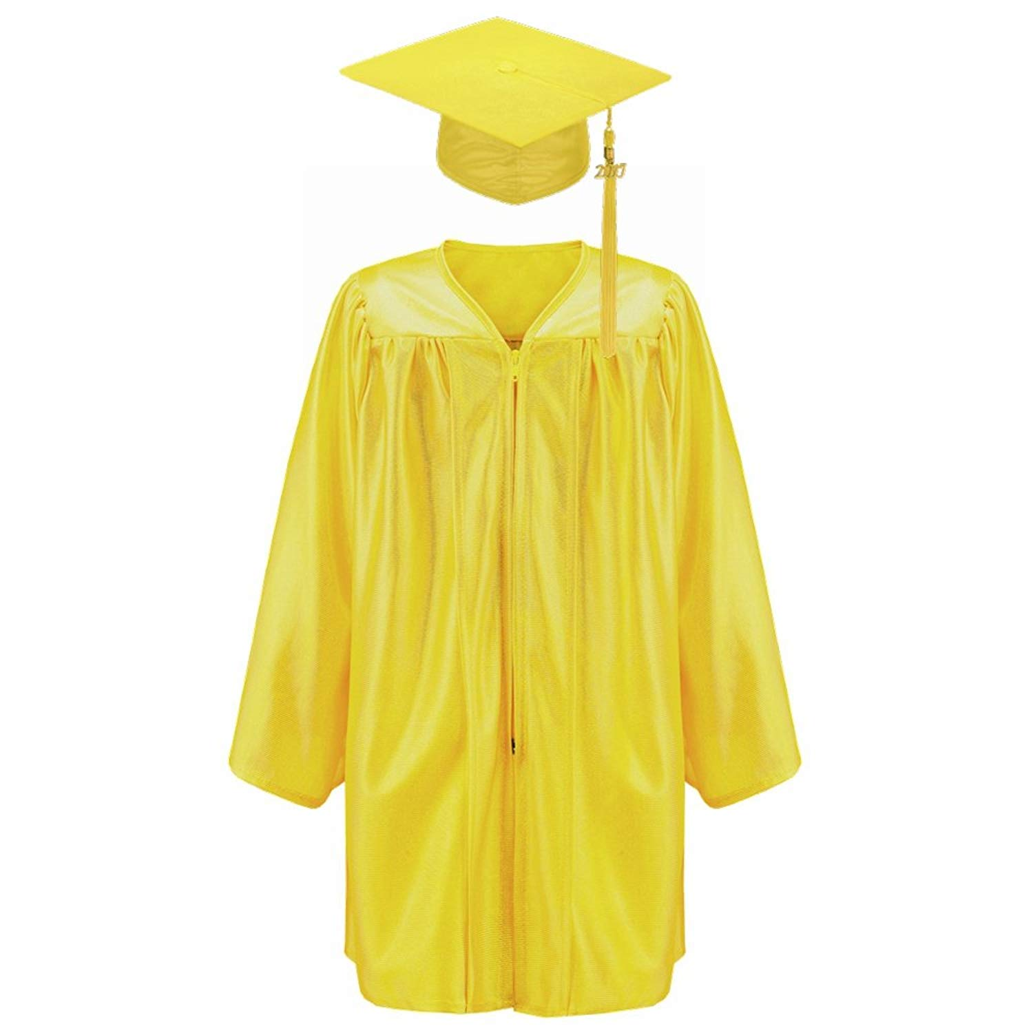 Robe Depot Unisex Shiny Kindergarten Graduation Gown Cap Tassel 2018 Package, Gold,M