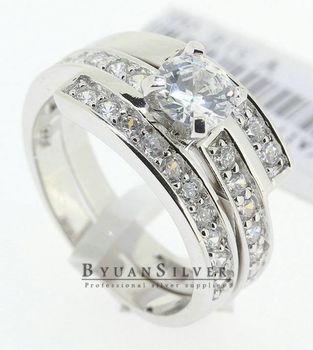 baoyuan 925 sterling silver set ring turkish wedding rings aa2025 - Turkish Wedding Ring