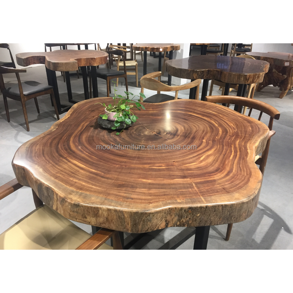 New Arrival Tea Table Beli Wood Slab Tree Trunk Wooden Coffee Product On