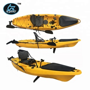 3.2m Length (m) and 1 Paddler Single sit on fishing boat /surfing kayak with new pedal and rudder