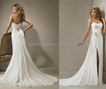 Wholesale WD0244 off shoulder strapless heart shaped neck pleated ...