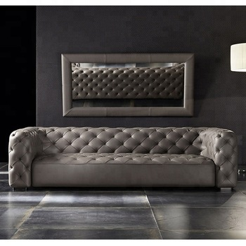 Modern Italian Living Room Sofas Tufted Genuine Leather Sofa - Buy ...