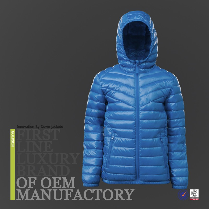 Extra Light Goose Down Jacket With Hood Binding Down Garment