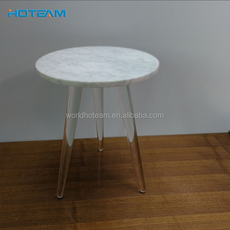 Round White Marble Slab Top Coffee Table Buy Round Marble Slab