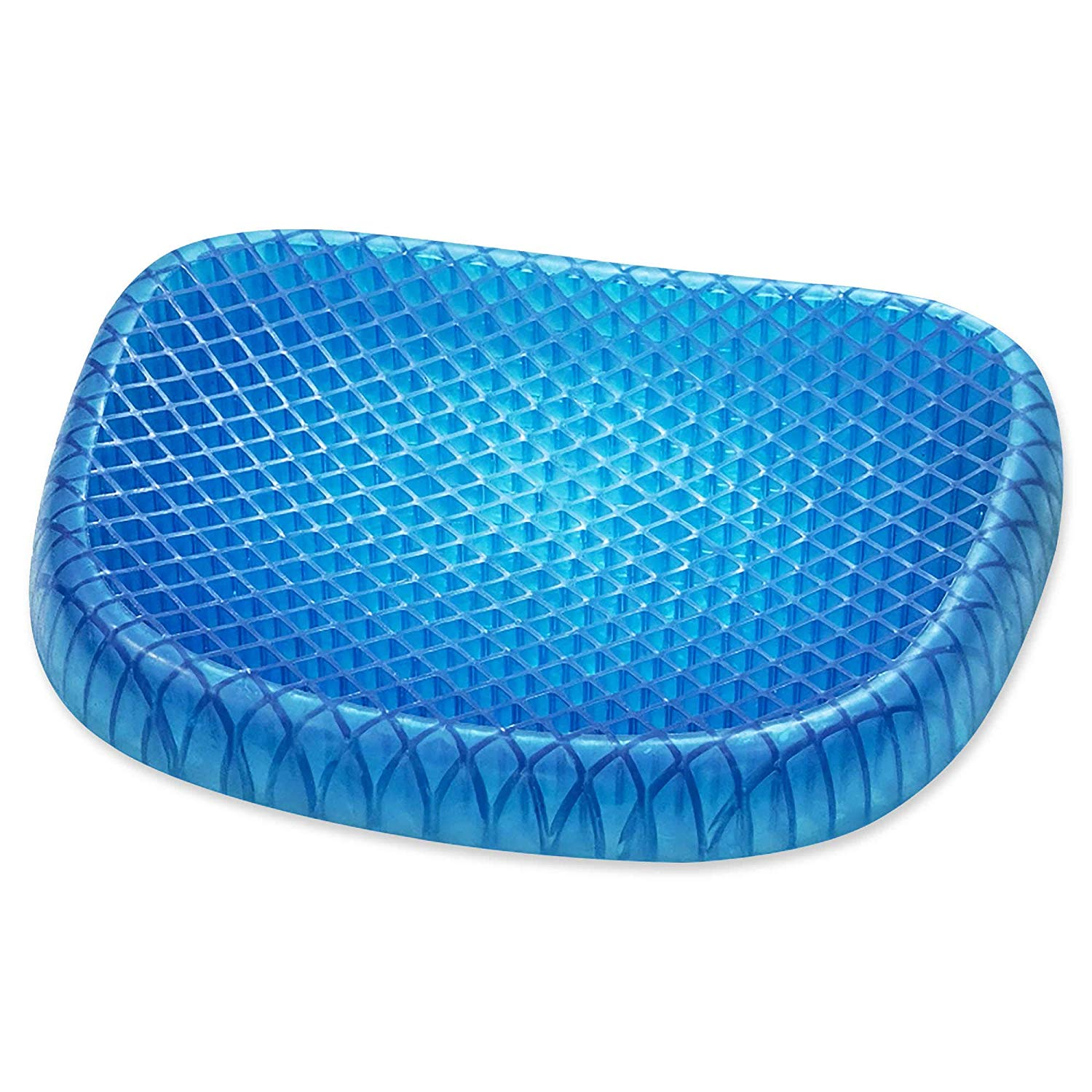 GO KITCHEN Gel Seat Cushion for Chair Pad with Non Slip Washable Cover Soft Pad for Pain Relief for Car, Office Chair,for Wheelchair Gel Pad