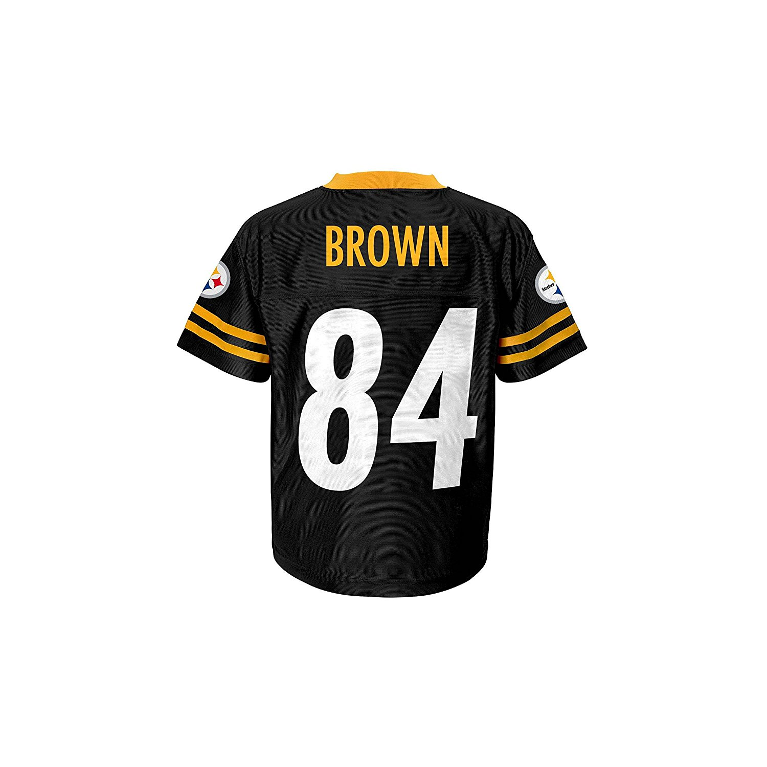 0b8e1cec Get Quotations · Antonio Brown Pittsburgh Steelers #84 Black Toddler Player  Home Jersey