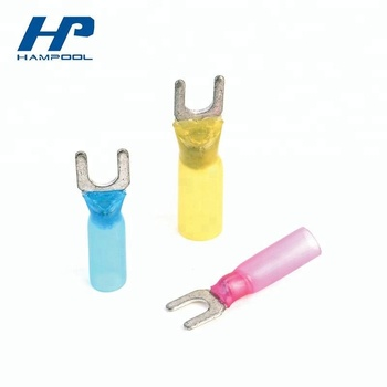 Hampool Heat Shrink Terminal Shrinkable Terminal Hdpe Heat Shrink Butt Connector Hp-ds-06 Dual