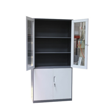 Durable 2 Door Metal Body Small Steel Cupboard Kids Book Cabinet