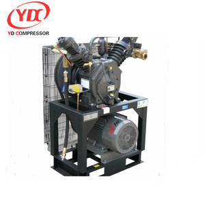 d type horizontal cng compressor with large displacement for mother station 17CFM 4988PSI 15HP