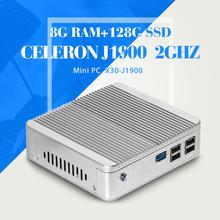 Fanless Design N2830 N2840 J1800 4G RAM 16G SSD Industrial Embedded PC Htpc Mini PC Desktop Computer