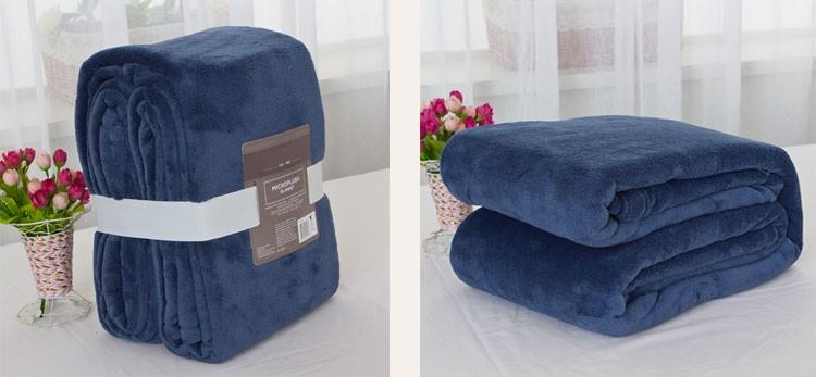 Promotion Coral Fleece Custom Knit Throw Blanket