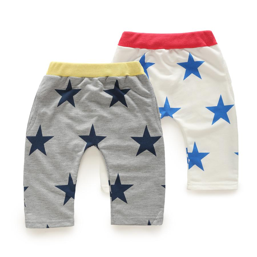 The Rushed Cotton Knee Length Animal Unisex 2015 Summer Star A Korean Kids Clothes New Baby Pants Kz-3661 Five Free Shipping