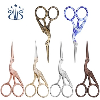 Big Crane Type Vintage Handmade Craft Stainless Steel Small Scissors