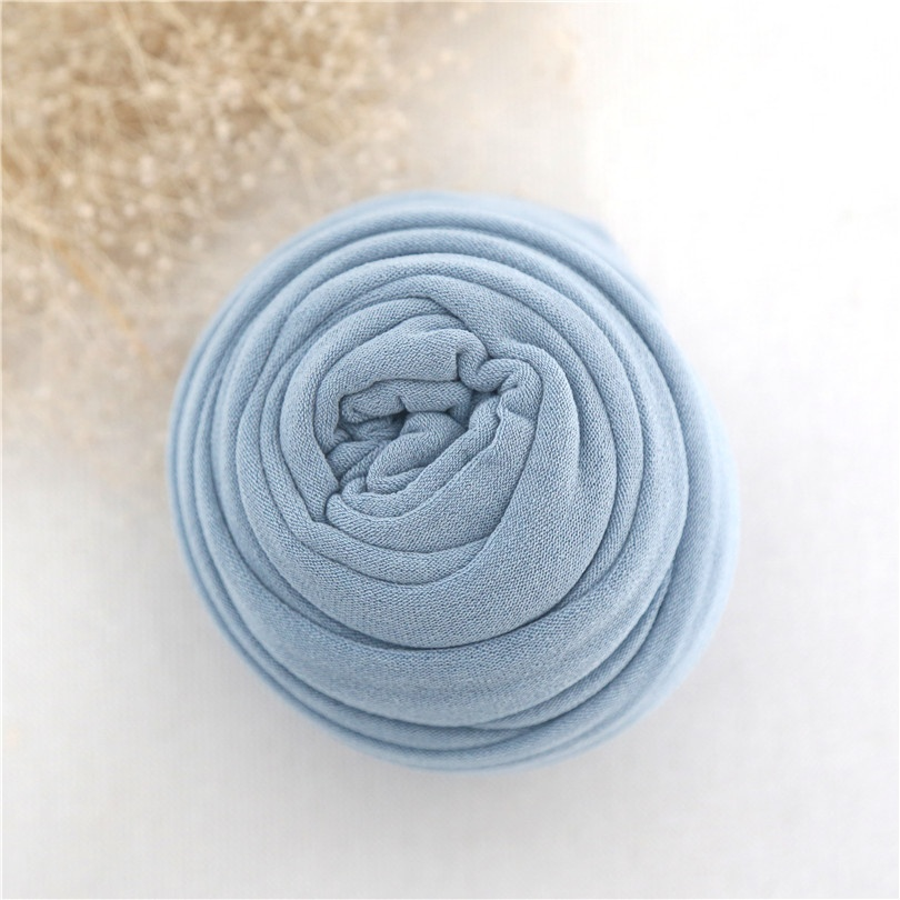 Jersey Knit Wrap Blue Newbonrn Stretch Wrap Posing Fabric Baby Swaddle Knit Blanket Strech Knit Layer New born Photography Props