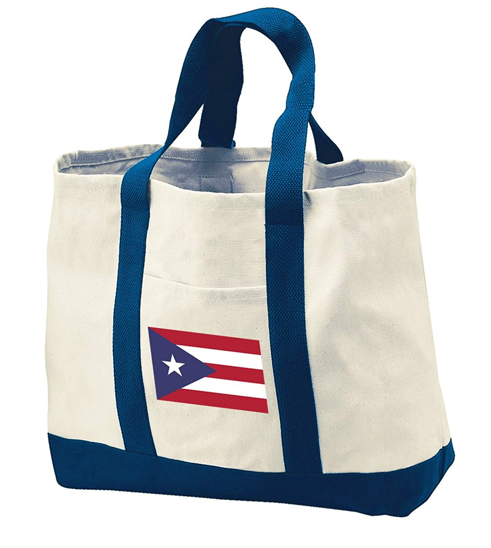 Puerto Rico Tote Bag Puerto Rico Flag Totes for Pool Beach Travel Grocery Shoppi