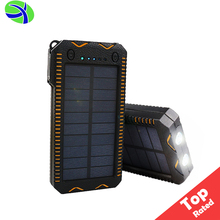 Cig Lighter Solar Power Bank Charger, Waterproof Solar Power Bank 10000mah Dual Charger, Solar Power Bank Charger with Lighter